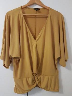 Amisu Camisa cruzada color oro-naranja dorado