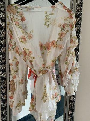 Zara Woman Blusa cruzada crema
