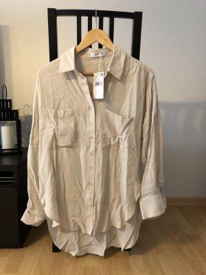 Bluse beige von Mango Gr. S