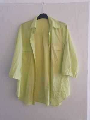 Betty Barclay Linen Blouse lime yellow-neon yellow