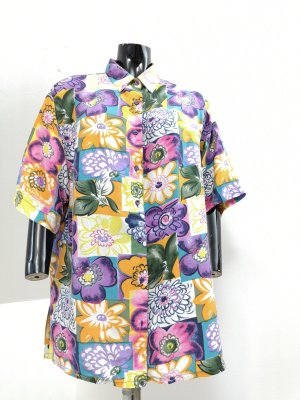 Premium Vintage Silk Blouse multicolored