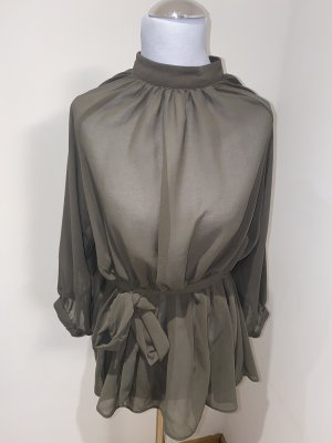 Long Sleeve Blouse olive green