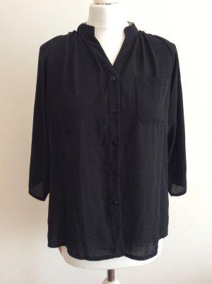 Bluse bicolor schwarz/creme Forever Unique Gr.38