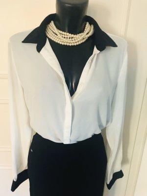 Bluse black & white Gr 40