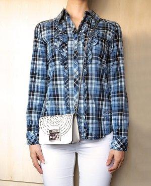 Garcia Geruite blouse veelkleurig Katoen