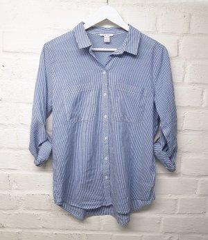 Bluse Blau Hellblau Weiß gestreift Amisu Gr. S/ 36