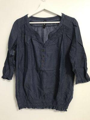 Bluse blau in Jeansoptik S