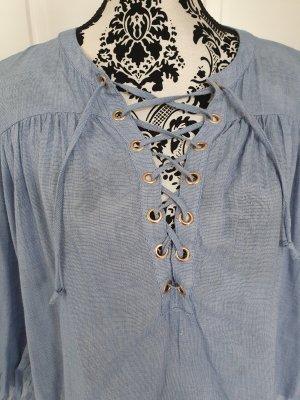 Bluse, Blau..mit tollen Knöpfen..leicht und luftig