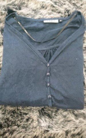 Bluse blau transparent