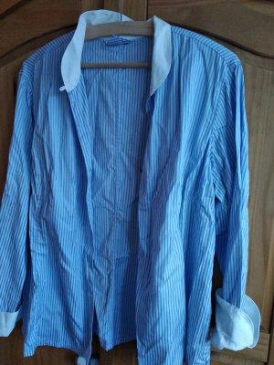 van Laack Stand-Up Collar Blouse white-azure