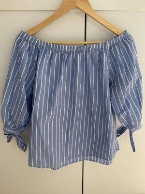 Bluse blau weiß