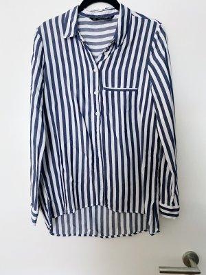 Bluse blau-weiß