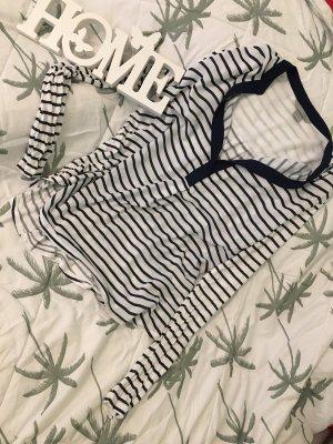 H&M Blouse Shirt white-dark blue