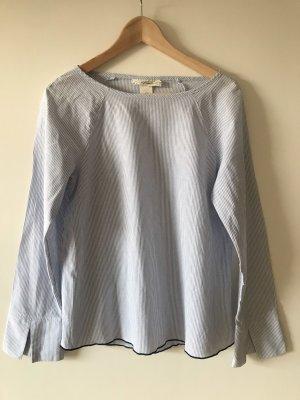 Bluse blau/weiß gestreift