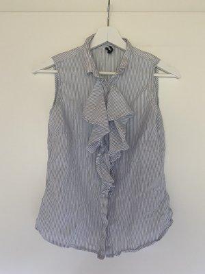 Bluse blau weiß gestreift Größe XS ohne Ärmel
