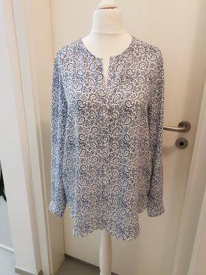 Mango Suit Lange blouse wit-blauw
