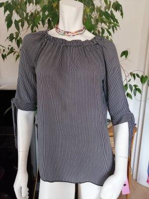 Blind Date Tunique-blouse blanc-noir