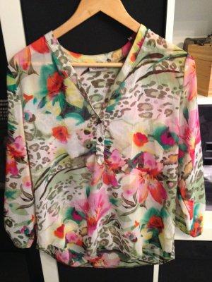 Bluse Blumen/Leolook in Gr. 40 Canada