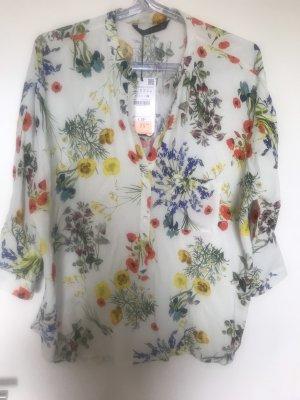 Bluse Blumenprint