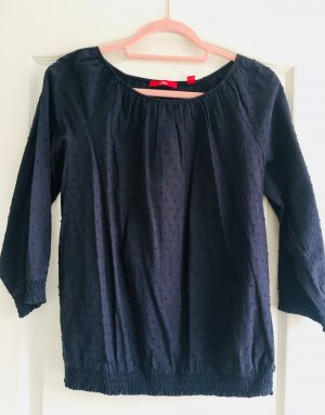 Bluse/Blusenshirt von S.Oliver, dkl. blau, Gr. 38, neu