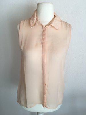 Ann Christine Blouse sans manche rose chair-abricot