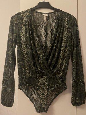 H&M Bodysuit Blouse dark green