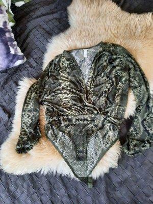 Bluse - Body, sehr schick und elegant,  snake print