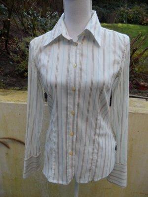 Bluse Bogner Jeans Gr. 36 Weiß mit Streifen