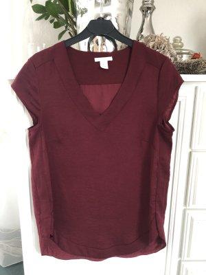Bluse / Bordeaux / Gr. 36 S / H&M