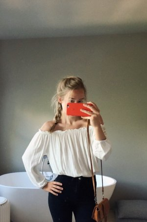 Brandy & Melville Cropped Top natural white-white
