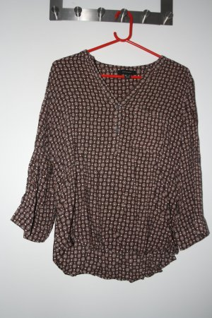 Atmosphere Long Sleeve Blouse brown cotton