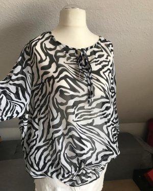 C.A.N.D.A Collection at C & A Bluzka z długim rękawem czarny-biały