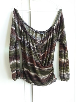 Allyson Collection Blouse Top olive green-khaki