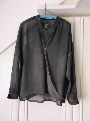 Better Rich Long Sleeve Blouse dark grey