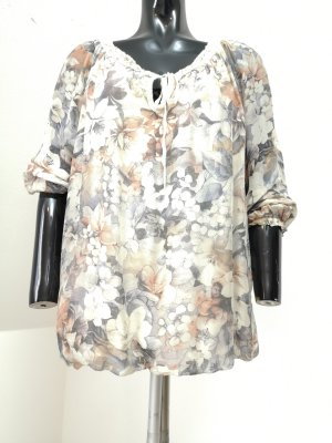 Cartoon Oversized Blouse light grey-cream