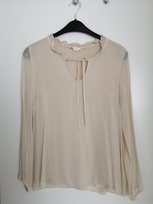 Anna Justper Long Sleeve Blouse oatmeal