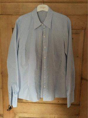 Seidensticker Blusa-camisa azul celeste-blanco