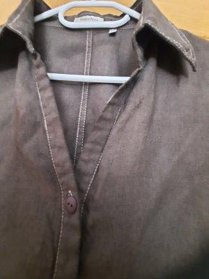 Marco Pecci Lniana bluzka brązowy
