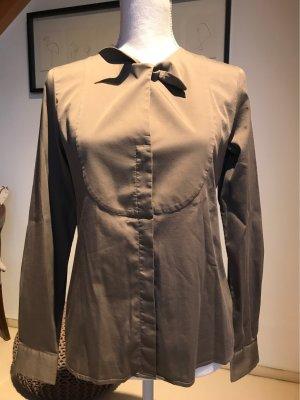 Caliban Long Sleeve Blouse ocher-grey brown