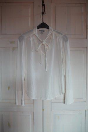 H&M Tie-neck Blouse natural white