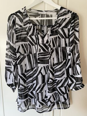 Canda Transparante blouse zwart-wit