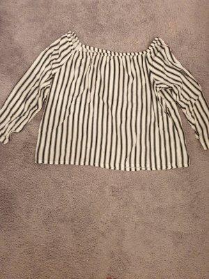 Darling Harbour Camisa tipo Carmen blanco-negro