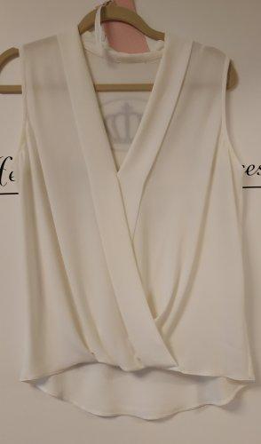 italienische Herstellung Blusa trasparente bianco sporco