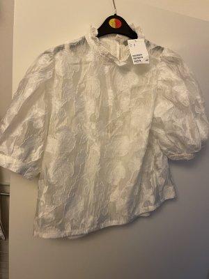 H&M Blouse brillante blanc