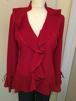 Ricarda M Transparent Blouse red polyester