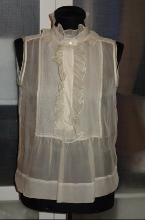 Chloé Sleeveless Blouse cream silk