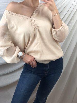 Bluse Creme beige
