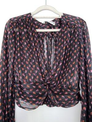 Zara Blusa brillante nero-carminio