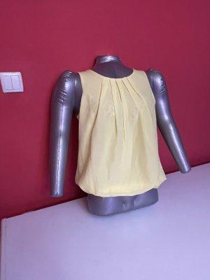 Empiècement de blouses jaune