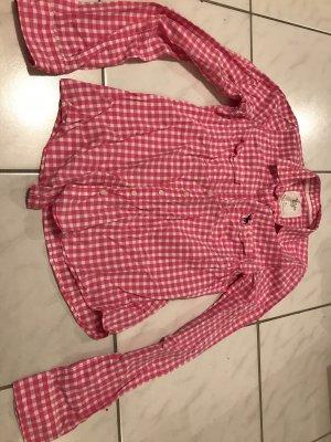 Abercrombie & Fitch Camicia a scacchi bianco-rosa